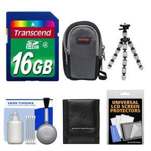 Essentials Bundle for Sony Cyber-Shot DSC-RX100 II III IV V Digital Cameras with 16GB Card + Case + Flex Tripod + Accessory Kit