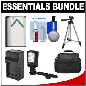 Essentials Bundle for Sony Handycam HDR-CX405 CX440 and PJ440 Camcorders with Case + LED Light + NP-BX1 Battery and Charger + Tripod Kit