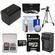 Essentials Bundle for Sony Handycam HDR-PJ540, HDR-PJ670 & HDR-PJ810 Camcorders with 32GB Card + NP-FV70 Battery & Charger + Tripod + 3 UV/CPL/ND8 Filter Kit