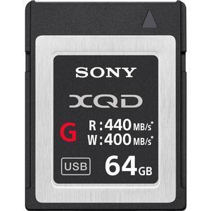 Sony 64GB G Series XQD Flash Memory Card Read. 440MB-S Write. 400MB-S