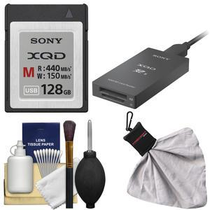 Sony 128GB M Series XQD Memory Card with XQD-SD Reader and Cleaning Kit