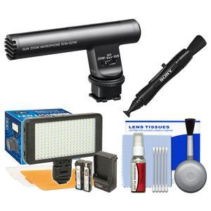 Sony ECM-GZ1M Shotgun - Zoom Microphone with LED Video Light and Diffusers + Kit