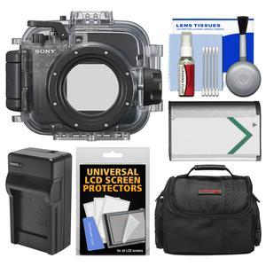 Sony MPK-URX100A Marine Underwater Housing Case for RX100 Series Cameras fits RX100 II III IV and V with Case + Battery and Charger + Cleaning Kit