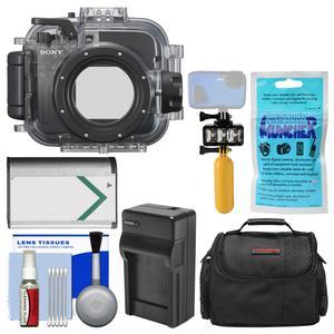 Sony MPK-URX100A Marine Underwater Housing Case for RX100 Series Cameras with Case + NP-BX1 Battery and Charger + Underwater Light + Floating Handle + Kit