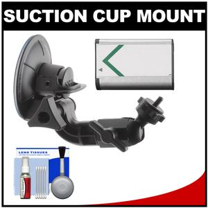 Sony Proforma PF-VCT-SC1 Action Cam Suction Cup Mount with NP-BX1 Battery and Cleaning Kit