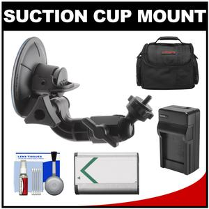 Sony Proforma PF-VCT-SC1 Action Cam Suction Cup Mount with NP-BX1 Battery and Charger and Case and Accessory Kit