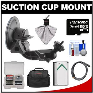 Sony Proforma PF-VCT-SC1 Action Cam Suction Cup Mount with 32GB Card + NP-BX1 Battery + Case + HDMI Cable + Accessory Kit