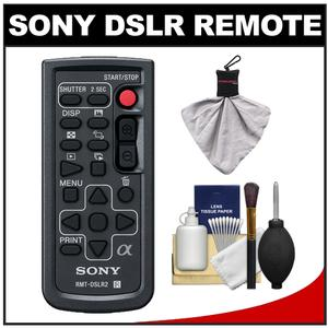 Special Offer Sony RMT-DSLR2 Wireless Remote Shutter Controller for Sony Alpha Cameras with Cleaning Kit for A33 A55 A57 A65 A77 A99 NEX-5/5N/5R NEX-6 NEX-7 Before Too Late