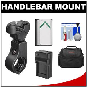Sony VCT-HM1 Action Cam Handlebar Mount with NP-BX1 Battery + Charger + Case + Accessory Kit