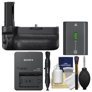 Sony VG-C3EM Vertical Battery Grip for Alpha A9 Camera with Battery and Charger + Cleaning Kit