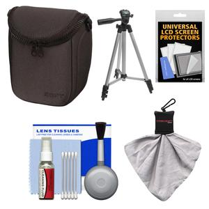 Sony LCS-BBF Soft Digital Camera Case for NEX Digital Cameras (Black) with Tripod + Accessory Kit