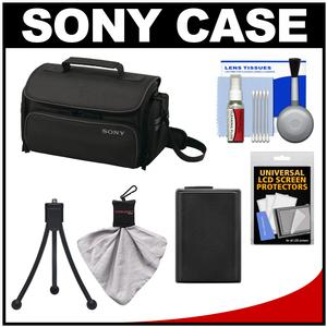 Take Offer Sony LCS-U20 Medium Carrying Case for Handycam Cyber-Shot NEX Digital Camera (Black) with Battery + Accessory Kit Before Special Offer Ends