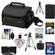 Sony LCS-U20 Medium Carrying Case for Handycam, Cyber-Shot, NEX Digital Camera (Black) with 16GB Card + NP-FW50 Battery + 3 UV/FLD/PL Filters + Tripod + Accessory Kit