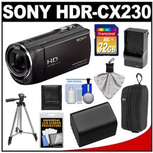 Sony Handycam HDR-CX230 8GB 1080p HD Video Camera Camcorder (Black) + 32GB Card + Battery + Charger + Case + Tripod + Accessory Kit at Sears.com