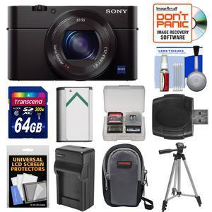 Sony Cyber-Shot DSC-RX100 III Wi-Fi Digital Camera with 64GB Card + Battery & Charger + Case + Tripod + Kit