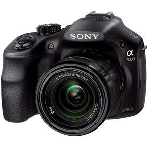 Sony Alpha A3000 Digital Camera & 18-55mm Lens (Black)