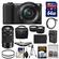 Sony Alpha A5100 Wi-Fi Digital Camera & 16-50mm Lens (Black) with 55-210mm Lens + 64GB Card + Case + Battery/Charger + Tripod + Strap + Tele/Wide Lens