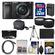 Sony Alpha A6000 Wi-Fi Digital Camera & 16-50mm Lens (Black) with 32GB Card + Case + Battery/Charger + Tripod + Tele/Wide Lens Kit