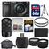 Sony Alpha A6000 Wi-Fi Digital Camera & 16-50mm Lens (Black) with 55-210mm Lens + 64GB Card + Case + Battery + Tripod + Tele/Wide Lens Kit