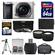 Sony Alpha A6000 Wi-Fi Digital Camera & 16-50mm Lens (Silver) with 64GB Card + Case + Battery + Tripod + Tele/Wide Lenses + 3 UV/CPL/ND8 Filter Kit