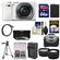 Sony Alpha A6000 Wi-Fi Digital Camera & 16-50mm Lens (White) with 64GB Card + Case + Battery/Charger + Tripod + Tele/Wide Lens Kit