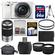 Sony Alpha A6000 Wi-Fi Digital Camera & 16-50mm Lens (White) with 55-210mm Lens + 64GB Card + Case + Battery + Tripod + Tele/Wide Lens Kit
