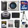 Sony Alpha A6000 Wi-Fi Digital Camera Body (Silver) with 32GB Card + Case + Battery/Charger + Tripod + Accessory Kit