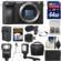 Sony Alpha A6500 4K Wi-Fi Digital Camera Body with 64GB Card + Case + Flash + Battery & Charger + Tripod + Video Light + Mic + Kit