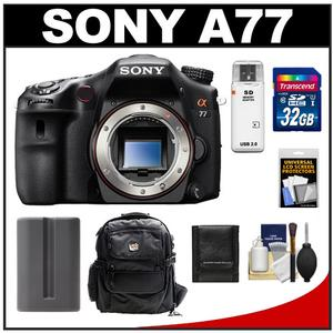 Sony Alpha SLT-A77 Translucent Mirror Technology Digital SLR Camera Body with 32GB Card + Battery + Backpack Case + Accessory Kit at Sears.com