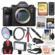 Sony Alpha A9 Wi-Fi 4K Digital Camera Body with 128GB Card + Backpack + Video Light & Microphone + Diffuser + Tripod + Remote + Kit