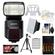 Sony Alpha HVL-F60M Flash with Video Light with Batteries & Charger + Diffusers + Tripod + Accessory Kit