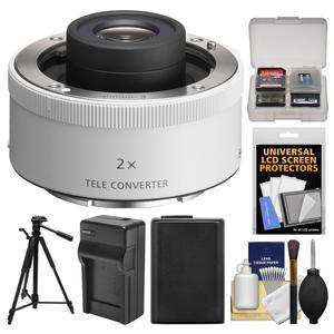Sony 2.0x E-Mount Teleconverter Lens with NP-FW50 Battery and Charger and Tripod and Kit