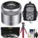 Sony Alpha E-Mount E 30mm f/3.5 Macro Lens with Backpack + 3 Filters + Flex Tripod + Kit