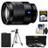 Sony Alpha E-Mount Vario-Tessar T* FE 24-70mm f/4.0 ZA OSS Zoom Lens with NP-FW50 Battery + 3 UV/CPL/ND8 Filters + Tripod + Kit
