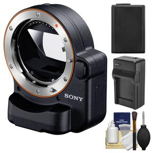 Sony Alpha LA-EA4 Adapter - Attach A-mount Lenses to E-mount Full Frame Camera - with TMT with NP-FW50 Battery and Charger + Accessory Kit