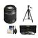 Sony Alpha A-Mount 55-200mm f/4-5.6 DT SAM Zoom Lens with Tripod + 3 UV/ND8/CPL Filter Set + Cleaning Kit