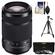 Sony Alpha A-Mount 55-300mm f/4.5-5.6 DT SAM Zoom Lens with 3 UV/CPL/ND8 Filters + Tripod + Accessory Kit
