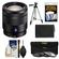 Sony Alpha E-Mount Vario-Tessar T* 16-70mm f/4.0 ZA OSS Zoom Lens with Battery + Tripod + 3 UV/ND8/CPL Filters + Accessory Kit