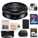 Sony Alpha E-Mount 20mm f/2.8 Wide-Angle Pancake Lens with 32GB Card + NP-FW50 Battery + Case + 3 Filters + Kit
