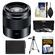 Sony Alpha E-Mount 50mm f/1.8 OSS Lens (Black) with NP-FW50 Battery + Tripod + 3 Filters + Kit