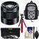 Sony Alpha E-Mount 50mm f/1.8 OSS Lens (Black) with Backpack + 3 Filters + Flex Tripod + Kit