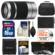 Sony Alpha E-Mount 55-210mm f/4.5-6.3 OSS Zoom Lens (Silver) with 32GB Card + NP-FW50 Battery + 3 UV/FLD/PL Filters + Case + Accessory Kit