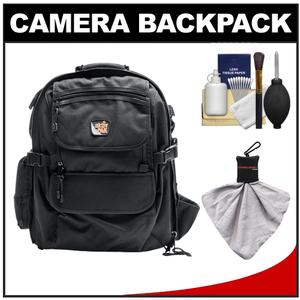 Aktiv Pak AP400 Digital SLR Camera Backpack Case (Black) with Spudz Cleaning Cloth + 6-Piece Cleaning Kit