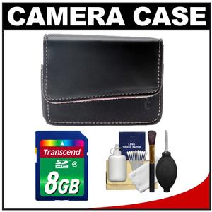 icon FM110-BLK Leather Digital Camera Case (Black with Pink Inside Liner)