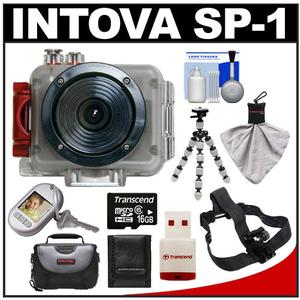 Intova Sport Pro Waterproof HD Sports Video Camera Camcorder with 32GB Card + Case + Flex Tripod + Accessory Kit
