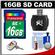 Transcend 16GB SecureDigital (SDHC) 300x UHS-1 Class 10 Memory Card with Card Reader + Cleaning Kt + LCD Photo Keychain