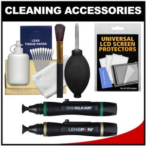 Precision Design 6-Piece Camera and Lens Cleaning Kit with Lens Pen and LCD Screen Lens Pen and LCD Protectors