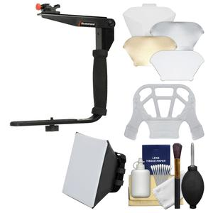 Stroboframe Quick Flip 350 Flash Bracket with Soft Box + Diffuser Bouncer + Accessory Kit