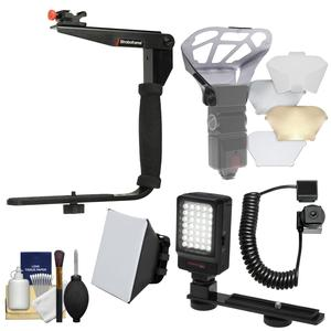 Buy Stroboframe Quick Flip 350 Flash Bracket with E-TTL Off-Camera Cord + Soft Box + Diffusers + LED Light + Kit for Canon DSLR Cameras Before Too Late