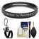 Sunpak 40.5mm UV Ultraviolet Glass Filter with CapKeeper + Cleaning Kit